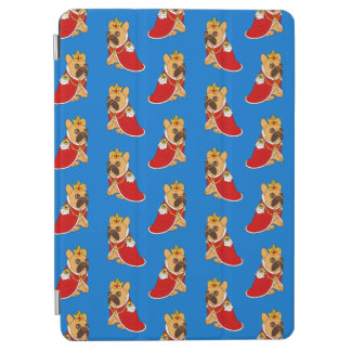 Black mask fawn Frenchie is the King of the house iPad Air Cover