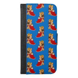 Black mask fawn Frenchie is the King of the house iPhone 6/6s Plus Wallet Case