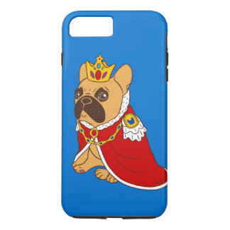 Black mask fawn Frenchie is the King of the house iPhone 8 Plus/7 Plus Case