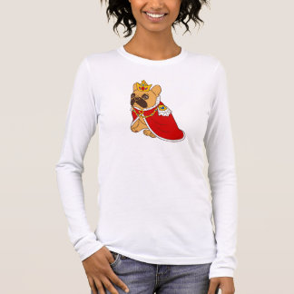 Black mask fawn Frenchie is the King of the house Long Sleeve T-Shirt