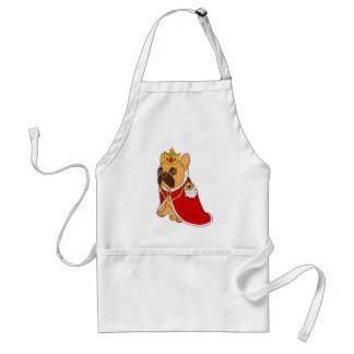 Black mask fawn Frenchie is the King of the house Standard Apron