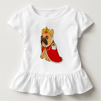 Black mask fawn Frenchie is the King of the house Toddler T-Shirt