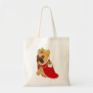 Black mask fawn Frenchie is the King of the house Tote Bag