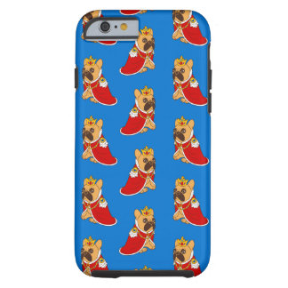 Black mask fawn Frenchie is the King of the house Tough iPhone 6 Case