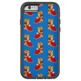 Black mask fawn Frenchie is the King of the house Tough Xtreme iPhone 6 Case