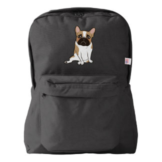 Black Mask Pied French Bulldog Wants Your Love Backpack