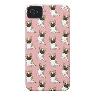 Black Mask Pied French Bulldog Wants Your Love iPhone 4 Cover