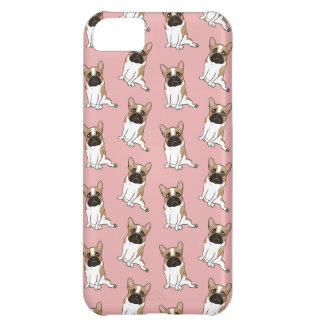 Black Mask Pied French Bulldog Wants Your Love iPhone 5C Case