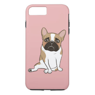 Black Mask Pied French Bulldog Wants Your Love iPhone 8 Plus/7 Plus Case