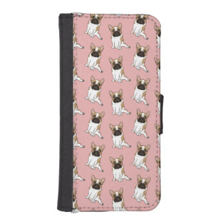 Black Mask Pied French Bulldog Wants Your Love iPhone SE/5/5s Wallet Case