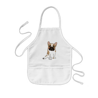 Black Mask Pied French Bulldog Wants Your Love Kids Apron