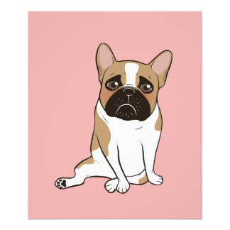Black Mask Pied French Bulldog Wants Your Love Photo Print