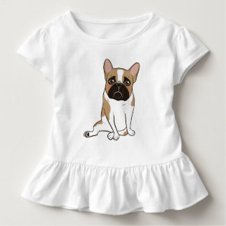 Black Mask Pied French Bulldog Wants Your Love Toddler T-Shirt