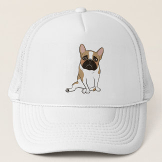 Black Mask Pied French Bulldog Wants Your Love Trucker Hat
