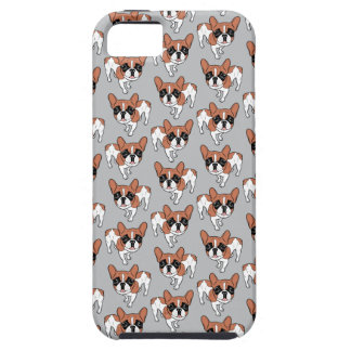 Black Mask Red Pied French Bulldog iPhone 5 Cover