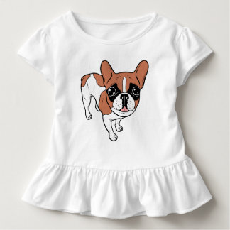 Black Mask Red Pied French Bulldog Toddler T-Shirt