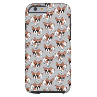 Black Mask Red Pied French Bulldog Tough iPhone 6 Case