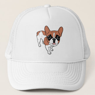Black Mask Red Pied French Bulldog Trucker Hat