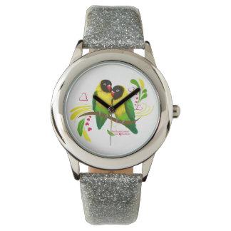 Black Masked Lovebirds Wrist Watches