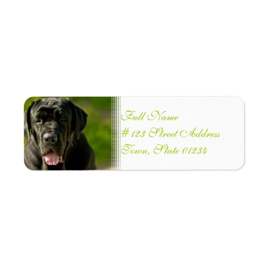Black Mastiff Mailing Labels