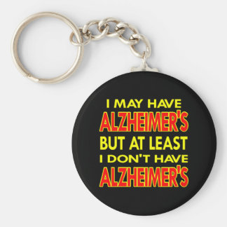 Black May Have Alzheimers Basic Round Button Key Ring