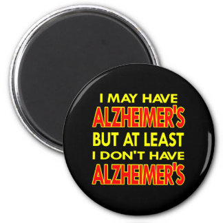 Black May Have Alzheimers 6 Cm Round Magnet