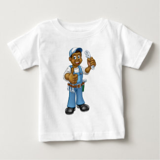 Black Mechanic or Plumber Handyman Baby T-Shirt