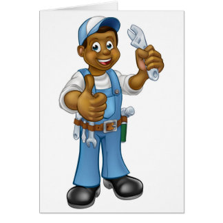 Black Mechanic or Plumber Handyman Card