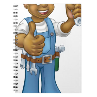Black Mechanic or Plumber Handyman Notebooks