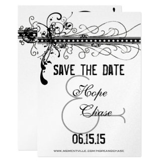 Black Medieval Renaissance Wedding Save the Date Card