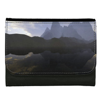 black medium leather wallet