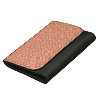 Black Medium Leather Wallet with Japanese pattern