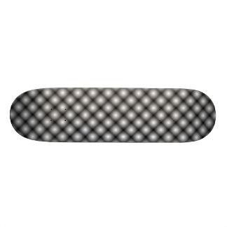Black Mesh White Balls Moire (Clear) 18.1 Cm Old School Skateboard Deck