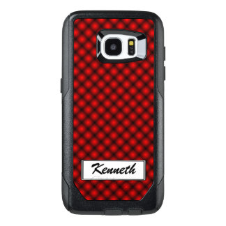 Black Mesh White Balls Moire(T) by Kenneth Yoncich OtterBox Samsung Galaxy S7 Edge Case
