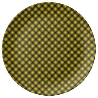 Black Mesh White Balls Moire (T)by Kenneth Yoncich Plate