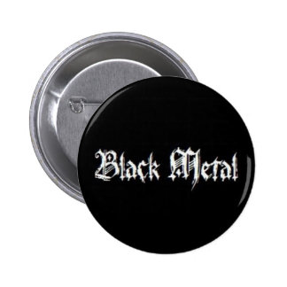BLACK METAL 6 CM ROUND BADGE