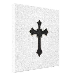 Black Metal Cross Canvas Prints
