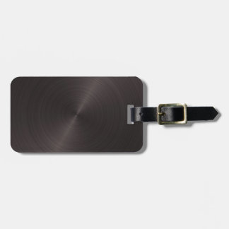 Black Metal Luggage Tag