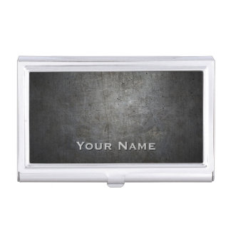 Black METAL Personalized Business Card Holder