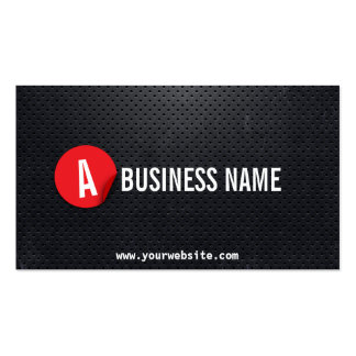 Black Metal Red Label Mechanic Business Card