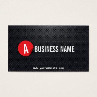 Black Metal Red Label Mechanic Business Card