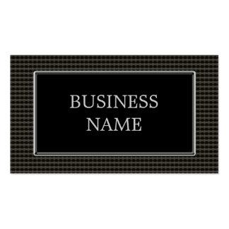 Black Metal Rivets Business Card Template