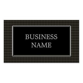 Black Metal Rivets, Chrome Pack Of Standard Business Cards