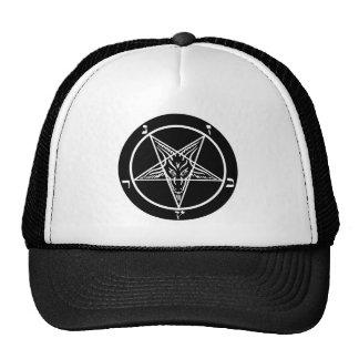 Black metal Satanic trucker hat