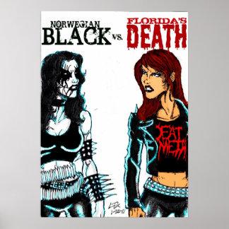 Black Metal Vs. Death Metal Print