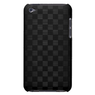 black metal with checkerboard pattern Case-Mate iPod touch case