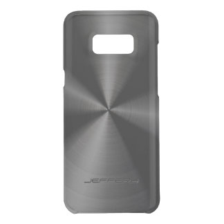 Black Metallic Pattern Stainless Steel Look 4 Uncommon Samsung Galaxy S8 Plus Case