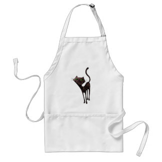 Black Mexican Day of The Dead Cat Standard Apron