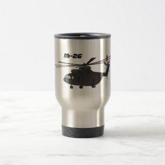 Black Mi-26 Helicopter Travel Mug