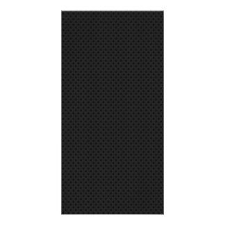 Black Micro Pinhole Kevlar Carbon Fiber Customized Photo Card